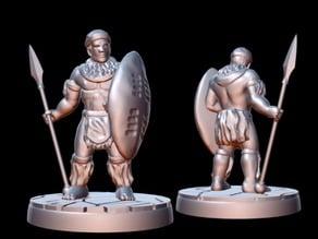 Zulu Warrior (15mm scale)