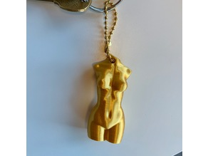 Woman's Body Keychain