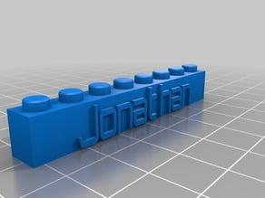 My Customized Jonathan Lego Block