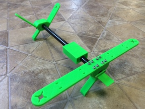 Simple V-tail quad copter