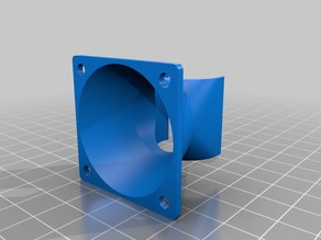 Customizable Fan Duct V1.1 for All Metal Hot End and 40mm fan