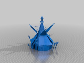 primitive chieftains tent - low poly
