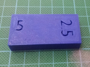 Measurement 50mm x 25mm x 10mm