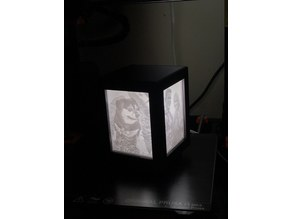 Lithopane box for 100x75mm vertical lithopanes
