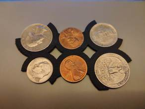 Credit card size change coin holder - (default US coins)
