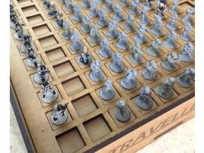 Lasercut 15mm Miniature Basing Insert for Ikea Kallam Stackable Storage