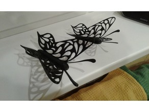 Butterfly stand for mobile