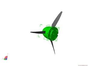 3 blade propeller for static model 3D LabPrint new ME109