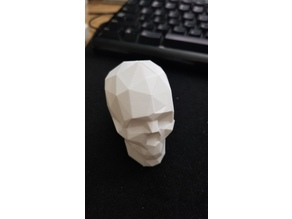 Low Poly Skull for Vase Mode