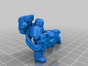 Space Man with Heavy Gravity Cannon