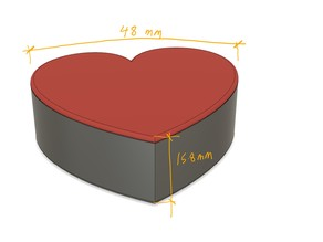 Heart Shaped Box with hinged lid