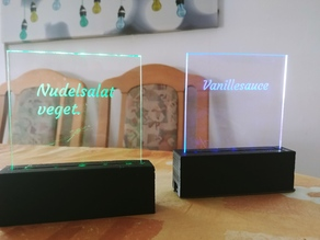 Acrylic holder for LED illuminated sign