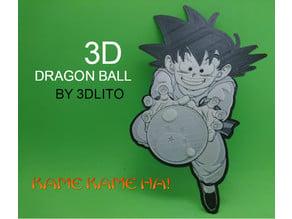 Dibujo 3D Son Goku   (BOLA DE DRAGÓN)