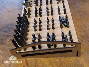 lasercutting - screwdriver Bit holder / Halterung, Einsatz für Werkzeug-Bits