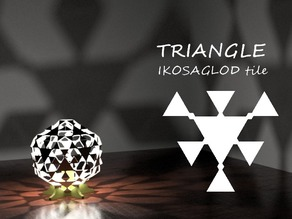 TRIANGLE: Ikosaglod Lamp Tile