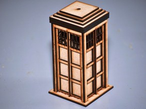 Laser Cut Police Box (aka TARDIS)