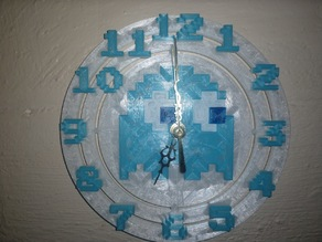 Large Pac-Man Ghost Clock