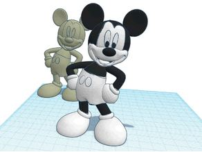 Mickey Mouse in dual extrusion