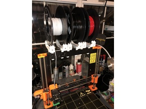 Prusa MK2 MK3 filament Holder with bearings
