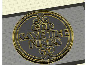 The Kinks (Band) God Save The Kinks Logo - Keychain