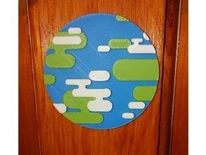 Kurzgesagt World Globe Multilayer sign