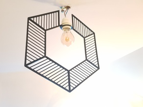 Modular Wire-Frame Hexagon Chandelier/Lampshade