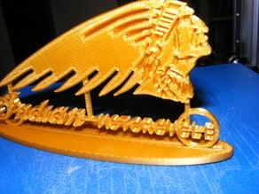 indian skeleton logo