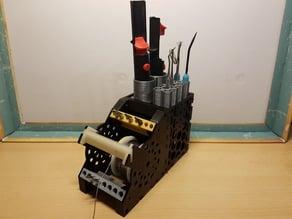 Solder stand with Tip Holder addition (Vacuum Desoldering Pump)