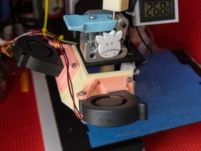 Dual fan mount for Printrbot Simple Metal