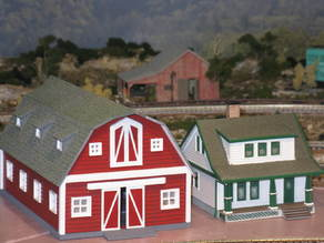 HO Scale Big Red Barn
