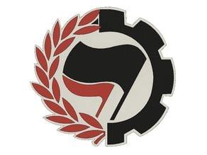 Antifa Flags Cog/Wreath