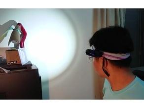 Turning a Flashlight into a Headlamp  把手電筒變頭燈