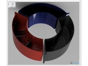 Spool drawer diameter 200/98 mm dividev into three