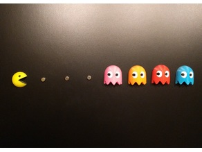 Tiny 3D Pacman Fridge Magnets