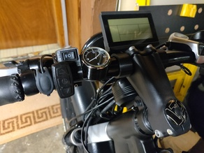 Handlebar clock mount