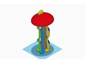 The Multi Mushroom Keychain