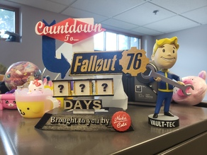 Fallout 76 Countdown Sign Logo