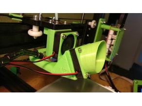 Anet A2 - E3D-V6 Adapter incl. 40mm Fanduct & Remixed Filament Cooler
