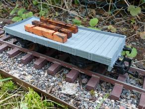 Flat wagon to the crane wagon gauge 1 scale 1:32