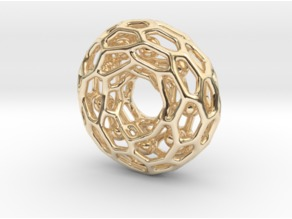 Voronoi tor pendant with little balls moving inside...