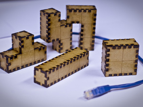 Laser Cut Tetris Blocks