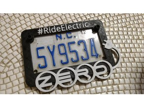 Zero Motorcycles #RideElectric license plate frame