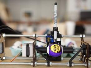 Laser Cut End Plates for Printable Eggbot