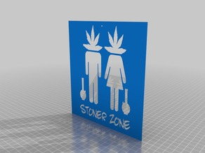 stoner weed  smoke zone doorplate or wall