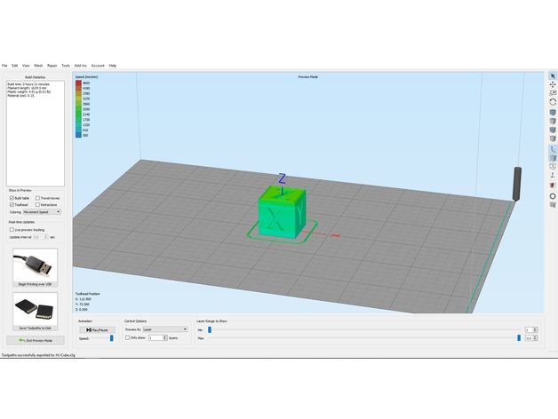 Simplify3D printer profile( fff) for Flashforge Creator Pro