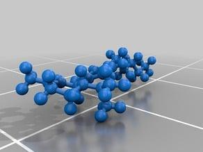 THC Molecule - Ball and Stick