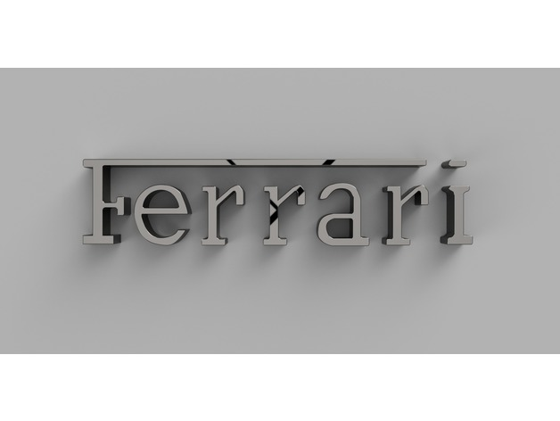 Ferrari Name By Thearc Thingiverse