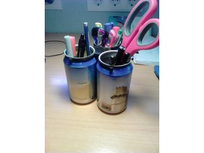pen organizer with cans