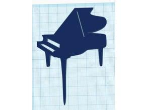 Piano Cupcake Topper