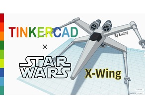 Simple X-wing with Tinkercad